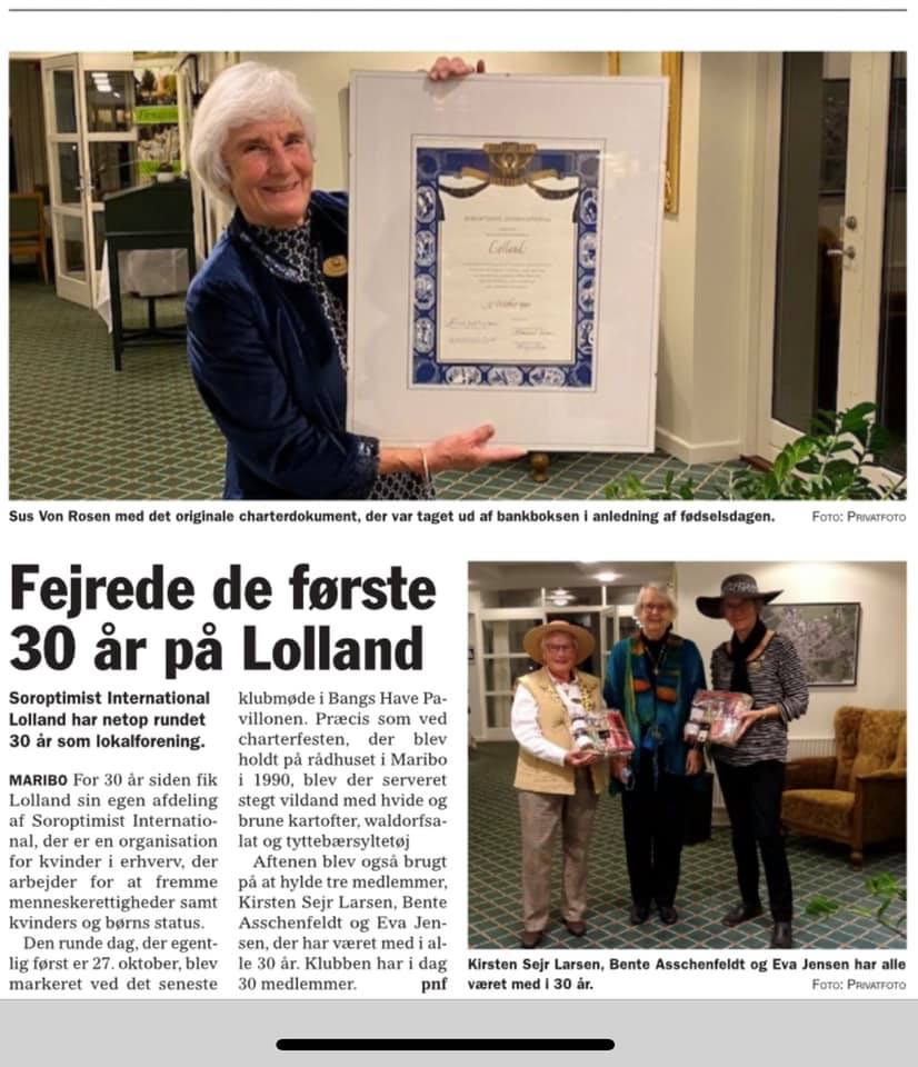 30 års jubilæum SI Lolland